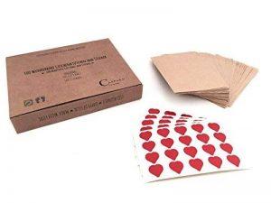 100 Merveilleux sacs en papier et 100 autocollants | Sacs-cadeaux vintage et autocollants en forme de cœur | Écologique | Sachet plats pour les larmes de joie, mouchoirs de mariage | Sachets pour des petits cadeaux | Bijoux | emballage cadeau respectueux image 0 produit