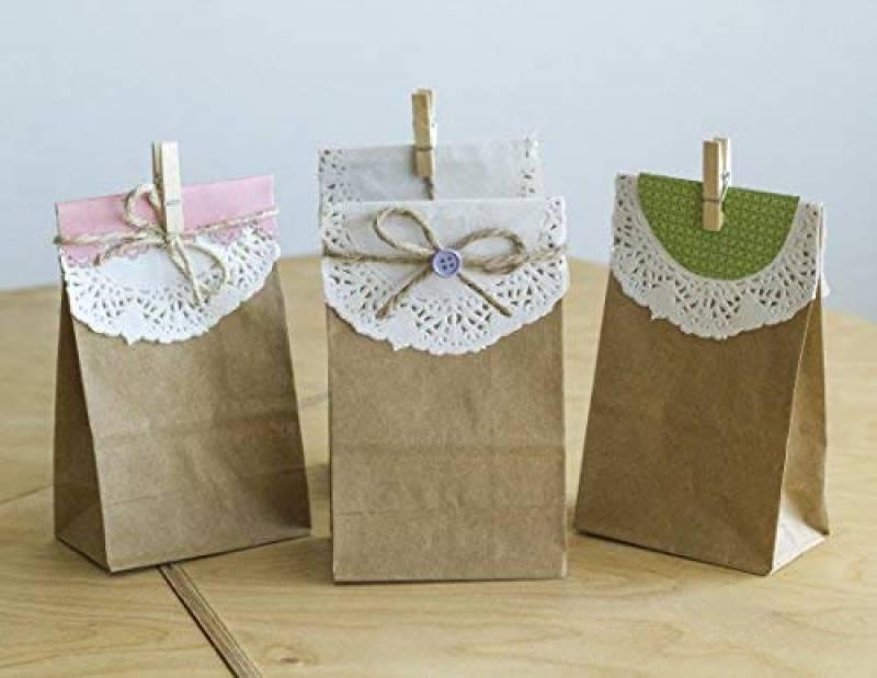 c87c136540 ... 16 x 5 cm - 70 g/m² sacs en papier pour pain, Calendriers de l'Avent,  emballage de pain, de biscuits, de boulangerie, de pâtisserie, de bonbons  et noix ...