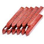 12 Pièces Bâtons de Cire à Cacheter avec Mèches Antique Cire d'Étanchéité pour Manuscrit de Feu pour Timbre de Cachet de Cire (Couleurs de Vin Rouge) de la marque Bememo image 1 produit