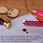 2 Pièce Cire pour Lettre Cire Bâton à Cachet Vintage avec Mèche et 1 Pièce Joint Timbre, Rouge Foncé de la marque Outus image 4 produit