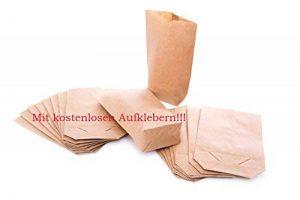 50 Petits papiers sac à dos - 14 x 22 cm, en papier kraft pour sacs cadeau de l'avent, emballage cadeaux, etc. de la marque Logbuch-Verlag image 0 produit