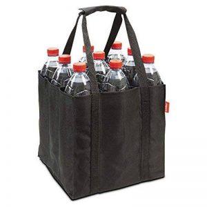 achilles® 9er Bottle-Bag, sac bouteille pour 9 bouteilles de 1,5 litre, mallette avec parois de séparation, noir, 27x27x27cm de la marque achilles® image 0 produit