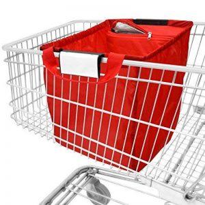 achilles Easy-Cooler, Sac de shopping pliable avec insert cool, Sac à provisions adapté à tous les paniers d'achat, rouge, 54x35x39 cm de la marque achilles® image 0 produit