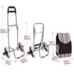 AIMADO Poussette de Marché Caddie, Chariot de Course Pliable à roulettes Imperméable - 6 Roues pour Monter- Capacité 30kg - Noir (EU Stock) de la marque AIMADO image 1 produit