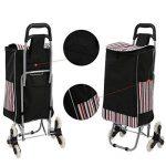 AIMADO Poussette de Marché Caddie, Chariot de Course Pliable à roulettes Imperméable - 6 Roues pour Monter- Capacité 30kg - Noir (EU Stock) de la marque AIMADO image 3 produit