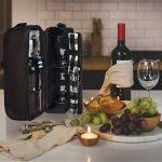 ALLCAMP Deluxe Sac à vin noir avec accessoires pour le vin, sac fourre-tout à vin pour deux personnes (noir) de la marque ALLCAMP image 4 produit
