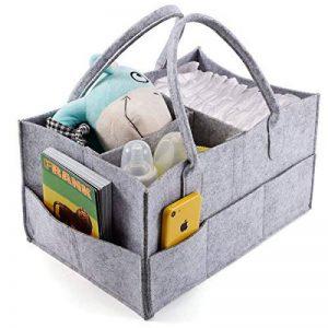 Anladia 3compartiments Portable bébé Organiseur Sac pour couches Bouteille Sac à main de rangement Gris de la marque Anladia image 0 produit