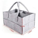Anladia 3compartiments Portable bébé Organiseur Sac pour couches Bouteille Sac à main de rangement Gris de la marque Anladia image 2 produit