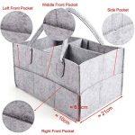 Anladia 3compartiments Portable bébé Organiseur Sac pour couches Bouteille Sac à main de rangement Gris de la marque Anladia image 3 produit