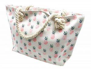 ATB08 - Grand Sac Cabas de Plage avec Imprimé Ananas Rose et Anses Corde Torsadée de la marque Oh My Shop image 0 produit
