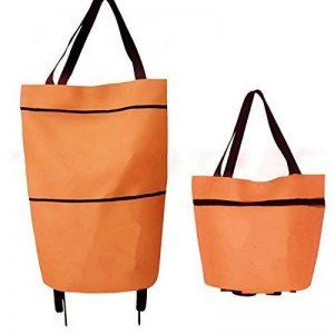 attachmenttou Travel Portable Oxford Foldable Reusable Shopping Bag On Wheels Grocery Handbag de la marque Kicode image 0 produit