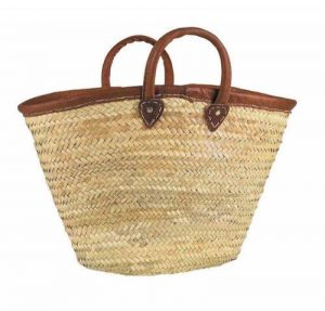 AUBRY GASPARD Couffin Naturel en Palmier anses et Bord Cuir de la marque AUBRY GASPARD image 0 produit