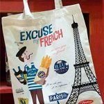 BARBACADO Sac shopping,sac coton, Excuse my french, sac à courses, Paris, Tour Eiffel, français,souvenir de Paris de la marque BARBACADO image 1 produit