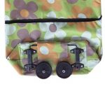 BESTOMZ Sac à provisions pliant avec des roues Chariot de Course Pliable à Roulette Caddie Courses Pliant(Pois orange) de la marque BESTOMZ image 2 produit