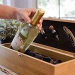 Boîte à vin en bois naturel de bambou, Coffret cadeau à vin, Avec outils et accessoires, Kit luxe pour les passionnés de la marque case Elegance image 4 produit