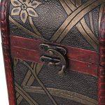 bqlzr Bouteille de vin vintage en bois naturel Boîte Coffret Cadeau pour 1bouteille avec motif jonquille Cylindre rectangulaire avec manche de la marque BQLZR image 3 produit