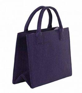 Brandsseller Cabas pratique sac à commissions conteneur de stockage en feutre -environ35x 20x 28cm-Couleurs assorties., Tissu, prune, 35 x 20 x 28 cm de la marque Brandsseller image 0 produit