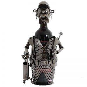 BRUBAKER ensemble de 2 porte-bouteille en forme de golfeur en métal avec sac cadeau de la marque Brubaker image 0 produit