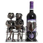 BRUBAKER Porte-bouteille de Vin décoratif - Sculpture en Métal - Idée cadeau - Couple sur le Banc de la marque Brubaker image 1 produit