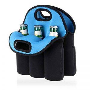 Btsky 6bouteilles Sac de transport en néoprène isotherme Sac de transport pour bouteille de bière bébé canettes boissons de la marque BTSKY image 0 produit