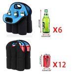 Btsky 6bouteilles Sac de transport en néoprène isotherme Sac de transport pour bouteille de bière bébé canettes boissons de la marque BTSKY image 4 produit