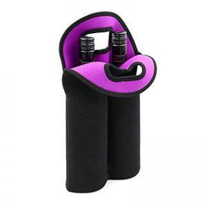 Btsky Porte-Bouteille avec 2 Emplacements - en Néoprène Isolé - pour Bouteilles d'eau et de vin - Noir de la marque BTSKY image 0 produit
