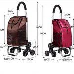 Cabaf Chariot Dolly Stair Climber roulant Panier Multipurpose 6 Roue Cadre en acier inoxydable de la marque JXA image 1 produit