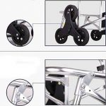 Cabaf Panier Escalier d'escalade roulant commercial polyvalent Blanchisserie Utilitaire Chariot avec siège de la marque JXA image 3 produit