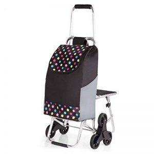 Cabaf Panier Escalier d'escalade roulant commercial polyvalent Blanchisserie Utilitaire Chariot avec siège de la marque JXA image 0 produit