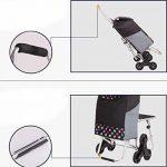 Cabaf Panier Escalier d'escalade roulant commercial polyvalent Blanchisserie Utilitaire Chariot avec siège de la marque JXA image 4 produit