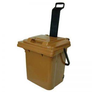 Caddie, Chariot plastique Sulo Rollbox 45 L Marron à roulettes et poignée rabattable (22110) de la marque Sulo image 0 produit