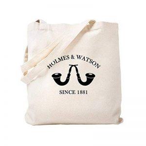 CafePress–Holmes et Watson depuis 1881–Naturel Sac en toile, tissu, Sac de courses Cabas S kaki de la marque CafePress image 0 produit