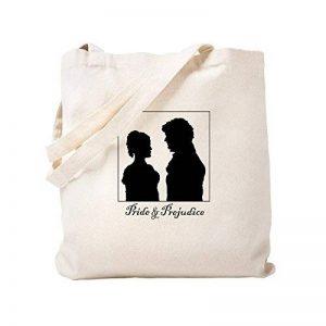 CafePress–Jane Austen Darcy Lizzy Naturel–Sac en toile, tissu, Sac de courses Cabas S kaki de la marque CafePress image 0 produit