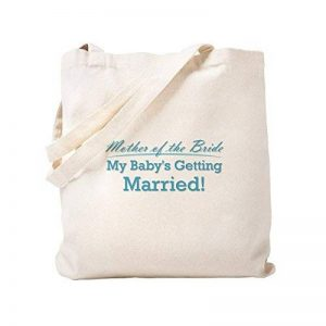 CafePress rigolo–Mère de la mariée–Naturel Sac en toile, tissu, Sac de courses Cabas S kaki de la marque CafePress image 0 produit