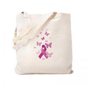 CafePress–Rose ruban de sensibilisation Naturel–Sac en toile, tissu, Sac de courses Cabas S kaki de la marque CafePress image 0 produit