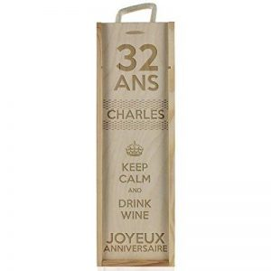 Caisse à vin personnalisé anniversaire - Keep Calm and Drink Wine de la marque Amikado image 0 produit