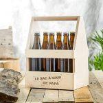 Casa Vivente - Porte-bouteille avec gravure - Sac à main de Papa - Standard - Caisse à bouteilles de bières et de vin - Support en bois pour 6 bouteilles - Cadeau de fête des pères - Cadeau d'anniversaire de la marque Casa Vivente image 3 produit