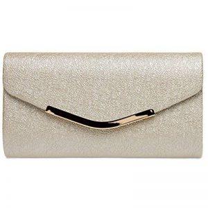 CASPAR TA370 Sac à main clutch enveloppe élégant pour femme - Pochette de soirée avec longue chaînette de la marque CASPAR Fashion image 0 produit