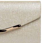 CASPAR TA370 Sac à main clutch enveloppe élégant pour femme - Pochette de soirée avec longue chaînette de la marque CASPAR Fashion image 3 produit