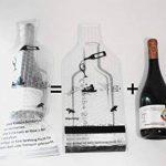 Catalpa Fleurs Lot de 4protections Sac Emballage réutilisable vin avec protection de film à bulles Bouteille à Vin Transport de la marque Catalpa Blume image 4 produit