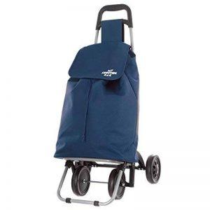 Chariot de course 4 roues nomade bleu de la marque jja image 0 produit