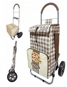 Chariot de courses pliable avec poche isotherme et poche porte parapluie - Double utilisation - Capacité 43L - Marque Bo Time de la marque Bo Time image 0 produit