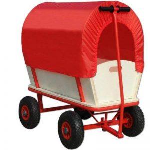 Chariot de transport avec bâche de protection amovible 168x45,5cm - Rouge de la marque Deuba image 0 produit