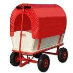 Chariot de transport avec bâche de protection amovible 168x45,5cm - Rouge de la marque Deuba image 3 produit