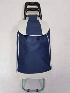 Chariot pour courses Discountseller Sac chariot à roulettes Rolling utilitaire bagages provisions (Bleu marine) de la marque DiscountSeller image 0 produit
