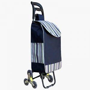 Chariot pour Courses Pliable Poids Léger Amovible Sac Lavable Monter des Escaliers Tissu Imperméable Roues en PU, 8 Couleurs (Couleur : 5#, Taille : 38 x 25 x 97cm) de la marque QIANGDA-Chariot image 0 produit