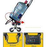 Chariot pour Courses Pliable Poids Léger Amovible Sac Lavable Monter des Escaliers Tissu Imperméable Roues en PU, 8 Couleurs (Couleur : # 6, Taille : 38 x 25 x 97cm) de la marque QIANGDA-Chariot image 1 produit