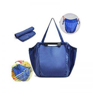 Chariot réutilisable qui respecte l'environnement d'organisateur de stockage,BAFFECT® sac de grande capacité de supermarché Chariot de supermarché pliable sacs caddie d'achats de chariot d'épicerie (bleu) de la marque Baffect image 0 produit