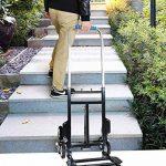 Chariots de courses Pliage plat de chariot de grimpeur d'escalier de chariot à main résistant de camion, déplacement multi de fonction de 6 roues de la marque Chariots de courses image 3 produit