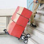 Chariots de courses Pliage plat de chariot de grimpeur d'escalier de chariot à main résistant de camion, déplacement multi de fonction de 6 roues de la marque Chariots de courses image 1 produit